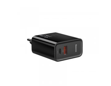 Baseus SPEED PPS 2-PORT NETWORK CHARGER PD30W/QC3.0 czarny