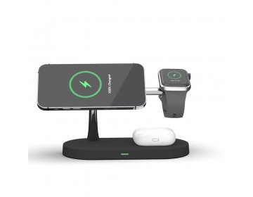 Tech-Protect A12 3w1 MAGNETIC MAGSAFE WIRELESS CHARGER czarny