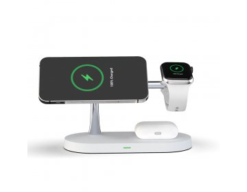Tech-Protect A12 3w1 MAGNETIC MAGSAFE WIRELESS CHARGER biały