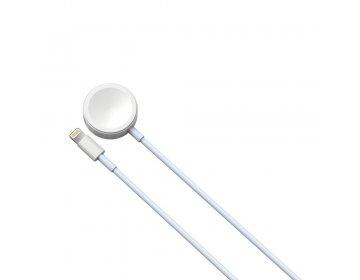 Devia kabel Smart 2w1 8pin z ładowarką indukcyjną do APPLE Watch biały