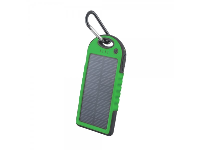 Power bank solarny Setty 5000 mAh zielony