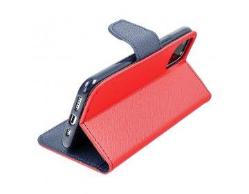 Etui z klapką Fancy do XIAOMI Note 9 Pro Max czerwony/granatowy