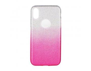 Futerał Forcell SHINING do Samsung M21 transparent/różowy