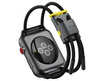 Baseus pasek do Apple Watch 38mm/40mm Let`s Go szaro-zółty LBAPWA4-AGY