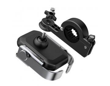 Baseus uchwyt rowerowy/motocykowy na kierownice metalowy ARMOR srebrny SUKJA-0S