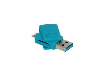 Czytnik kart micro SD > CR08 micro USB niebieski