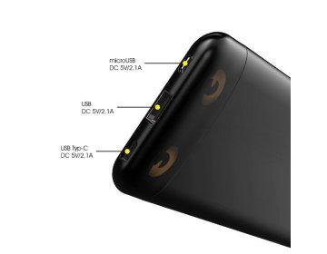 Awei power bank > P68K 1xUSB+USB Typ C szybkie ładowanie 10000mAh czarny
