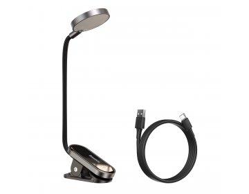 Baseus Lampka LED mini z klipsem DGRAD-0G ciemnoszara
